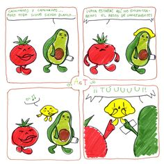 ~ AcT ~ 7 #aguacatecontomate #aguacate #tomate #limon #comic #humor