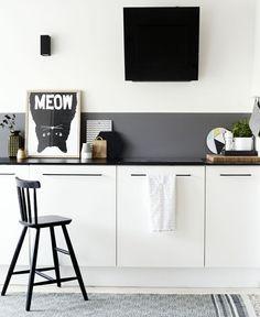 Meow Kitchen // black hardware