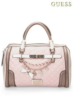 Buy Guess Pink Quilted Charm Bowling Bag from the Next UK online shop d2ee5749fc457