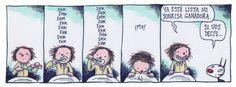 """""""En 2001 publicó junto a Santiago Rial Ungaro el libro Warhol para principiantes. Tras tres años de Bonjour, la humorista Maitena lo presenta en La Nación y en junio de 2002 comienza a publicar Macanudo, donde aparecen más pingüinos y otros extraños personajes"""" Humor Grafico, Illustrators, Cute, Wallpapers, Frases, Belly Laughs, Optimism, Comics, Caricatures"""