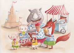 Summertime and icecream by Ania Simeone