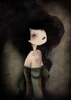 """Lily"" - Artist : Anne-Julie Aubry - www.annejulie-art.com  Shop: https://www.etsy.com/shop/TheNebulousKingdom"