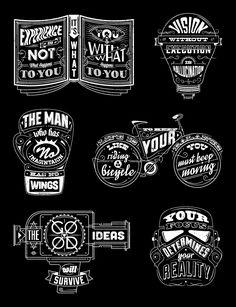 Type Quotes by Emiliano Aranguren, via Behance