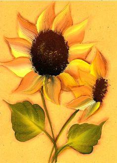 My work.  One stroke sunflower.