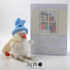 christmas card with window