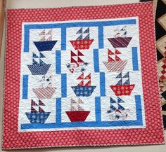 Sail Away Quilt Kit - 52 x 52 - WITH RULER