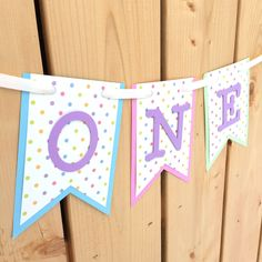 Your place to buy and sell all things handmade Happy 1st Birthdays, Happy Birthday Banners, High Chair Banner, Girl Birthday, Card Stock, Frame, Party, Handmade, Etsy