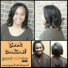 Full Sew In Relaxed Style: Short Cut, Waves and Curls Relaxed Styles, Natural Styles, Keratin Treatments, Custom Color, Precision Cuts Book online!  www.goodhairday.net