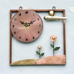 Cloud & Hill Bronze Handicraft Wall Clock, Art Home Decoration Clouds Hill, Clock Art, Handicraft, Bronze, Decoration, Wall, Gifts, Home Decor, Craft