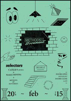 Methods Of Movement Web Design, Layout Design, Design Art, Graphic Design Posters, Graphic Design Illustration, Poster Design Inspiration, Print Layout, Typography Poster, Grafik Design