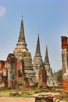 Ayutthaya. Photo by Lindsay at AnAdventureAWeek.com - come say hi! Ayutthaya Thailand, Ancient Ruins, Say Hi, Sculpture Art, Buddha, City, Building, Travel, Inspiration