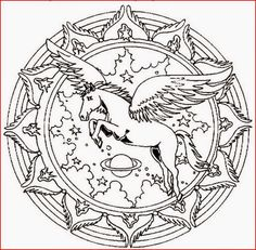 Coloring Pages: Horse Mandala Coloring Pages Free and Printable