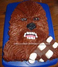 Homemade Chewbacca Star Wars Cake