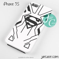Superboy White Black Suit Phone case for iPhone 4/4s/5/5c/5s/6/6 plus