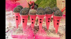 Microphones cake pops