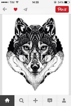 #tattoo #wolf #top