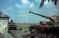 German World War 2 Colour Panzer IV Tank In Russia 1943