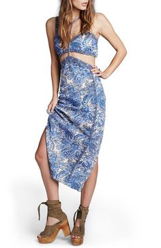 FREE PEOPLE 'Rapture' Embellished Two-Piece Cotton Dress. #freepeople #cloth #