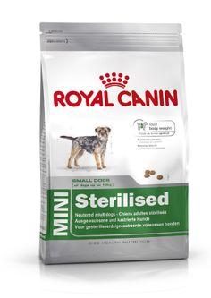 MINI Sterilised - Für #kastrierte, ausgewachsene, #kleine# Hunde bis 10 kg. MINI Sterilised kann unter Beachtung einer speziell abgestimmten Fütterungstabelle (siehe Packungsaufdruck) sowie dem Zusammenwirken eines erhöhten #Proteingehalts (30%), eines reduzierten #Fettgehalts (13%) und L-Carnitin (zur Unterstützung der Fettverbrennung) dazu beitragen, das #Idealgewicht bei #kastrierten #Hunden zu halten.