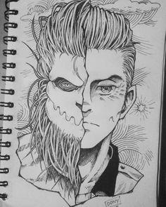 Anime Drawings Sketches, Anime Sketch, Drawing Superheroes, Naruto And Sasuke Wallpaper, One Piece Drawing, Anime Character Drawing, Face Sketch, Attack On Titan Fanart, Naruto Art