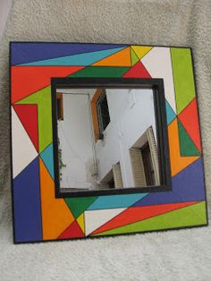 Stained Glass Mirror, Mirror Mosaic, Mirror Art, Mosaic Art, Mosaics, Mirrors, Bedroom Decor For Couples Small, Whimsical Painted Furniture, Boarders And Frames