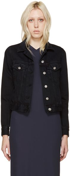 ACNE STUDIOS Black Denim Top Jacket. #acnestudios #cloth #jacket