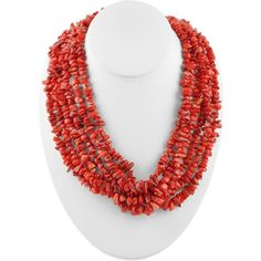 Stands of awesome. Multi-Strand Red Magnasite Nugget Necklace. #americanroadtripstyle