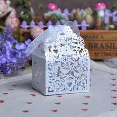 TH 50 Pcs Wedding Candy Box Birds Heart Sweets Gifts Favor Boxes With Ribbon Birthday Tea Party Festive Events Decoration(China (Mainland))