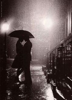 Romance in the rain….always the best kind :)