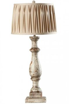 Column Table Lamp with Shade-Home Decorators...with a different shade this would be PERFECT!..or maybe some tassle fringe.