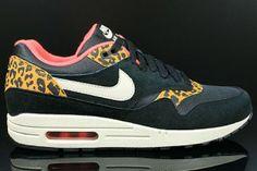 origineel Nike Air Max 1 dames Sneakers laag Leopard zwart beige rood online shop