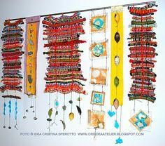 ORK'IDEA ATELIER: ARAZZO DEI RICORDI DI VIAGGIO / Souvenirs' hanging-tapestry