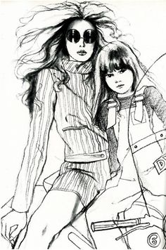 Fashion illustration by Antonio Lopez for Vogue UK, 1968.