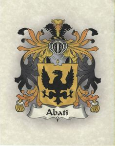 Italian Family Crest Coat of Arms Print 8 1/2 x 11 familycreststore