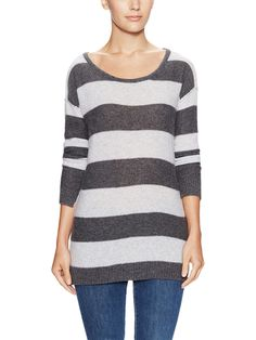 Cashmere Drop Shoulder Seam Striped Tunic by Wythe - because I need more stripes, obviously...