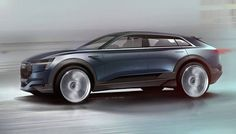 Preview sketch of Audi E-tron Quattro concept by Kamil Labanowicz