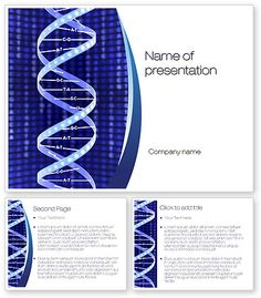 Strand of DNA PowerPoint Template  #10443 http://www.poweredtemplate.com/10443/0/index.html