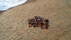 Tiny vintage glass gem stones Gem Stones, Diamond Gemstone, Jewelry Supplies, Glass Beads, Vintage Jewelry, Stud Earrings, Brown, Stud Earring, Handmade Accessories