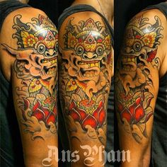 My own tattoo... mi propio tattoo !! Love!! Barong.. He is the king of the spirits, a protector spirit...