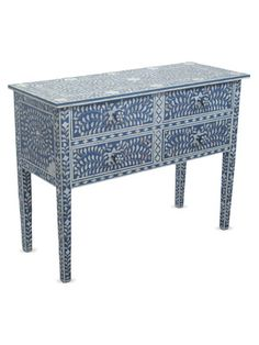 Indigo Nadia Bone Inlay Console Chest by nuLOOM on Gilt Home