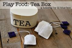 tea box w/ felt tea bags
