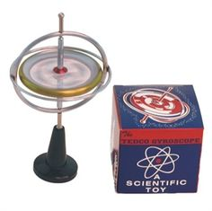 ORIGINAL GYROSCOPE has been around for many years. Its ability to defy gravity and not tip over can be baffling. The Original Gyroscope can do much more than spin on a pedestal. It can dance on a tightrope or balance on the lip of a glass. This mysterious behavior is a result of conservation of angular momentum from the interior spinning gyro.