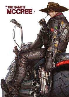 Jesse Mccree from Overwatch Cyberpunk, Character Art, Character Design, Character Reference, Character Concept, Character Inspiration, Soldier 76, Overwatch Fan Art, Fanart Overwatch