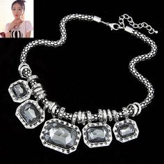 Asujewlery.com Offers High Quality Satchel Gray Exaggerate Gorgeous Jewel Alloy Korean Necklaces,Priced At Only US$2.55(Free Shipping)