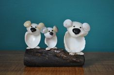 Seashell Koalas by BCSeaShells on Etsy