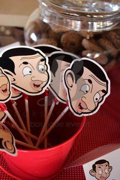Boksomdaais Boutique Events - Home Mr Bean Cake, Bean Cakes, Mr. Bean, Mr Bean Birthday, Birthday Parties, Cream Cheese Sandwiches, Battered Fish, Spanish Cuisine, Chocolate Lollipops