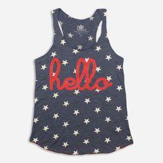 Hello Stars (Adult) Womens Racerback Tank Top