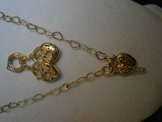 'Gold Heart Filigree Necklace & Matching Earrings' is going up for auction at  4pm Fri, Jul 20 with a starting bid of $5.