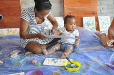 Baby art workshop at Fresh Paint Studio + Cafe.