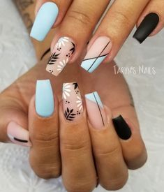Trending Short Coffin Nails Designs Ideas In Summer - Nail Art Connect.,Trending Short Coffin Nails Designs Ideas In Summer - Nail Art Connect Certa. Best Acrylic Nails, Summer Acrylic Nails, Summer Nails, Winter Nails, Fall Nails, Acrylic Nails Pastel, Halloween Acrylic Nails, Simple Acrylic Nails, Acrylic Art